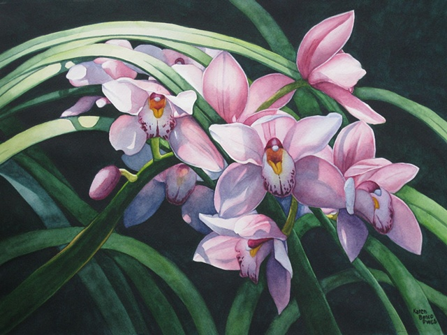Orchids Pink 18X24-Framed