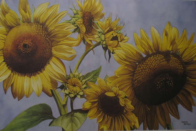 Sunflowers in the Sky-Unframed