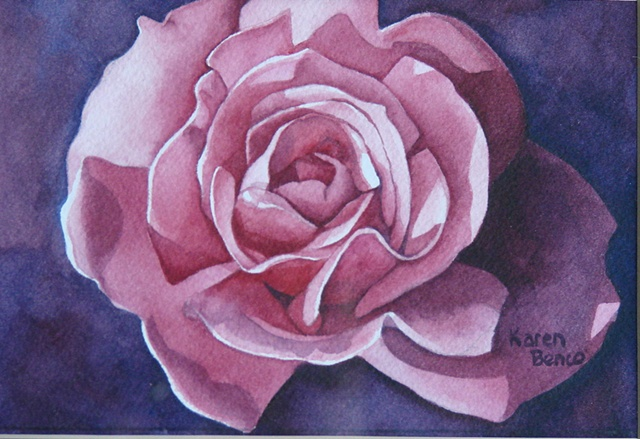 Rose Pink Red-Unframed