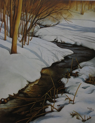 A Winter's Stream-Unframed