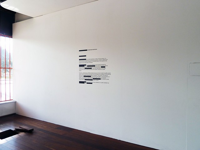 (Blank) Exhibition Proposal (exhibition view)