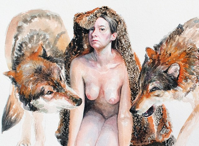 Among the Wolves (Detail)