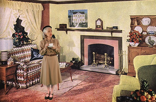 1949 Colonial Living Room (Cup of Tea)
