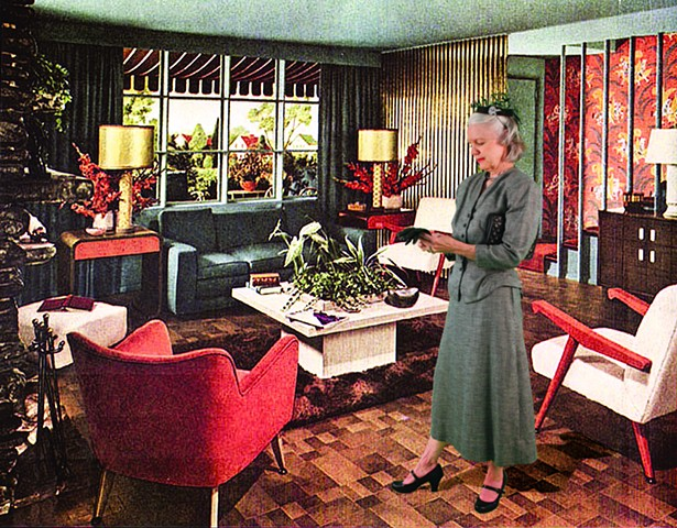 1948 Retro Living Room            (Putting On Gloves)