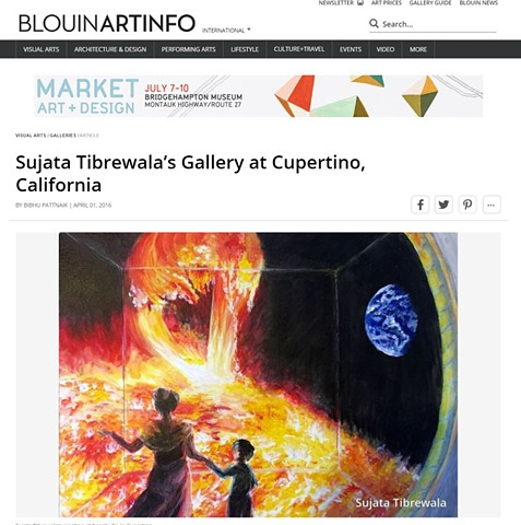Sujata Tibrewala's Gallery at Cupertino, California