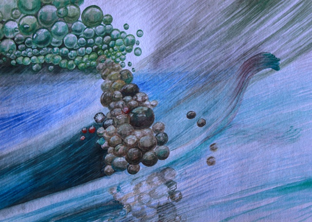 Conceptual water color  painting on paper