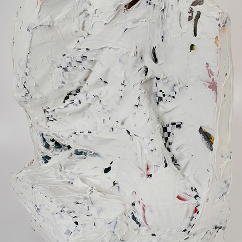 silicone, latex, wood, paper, metal, fabric 40 x 25 14 in.