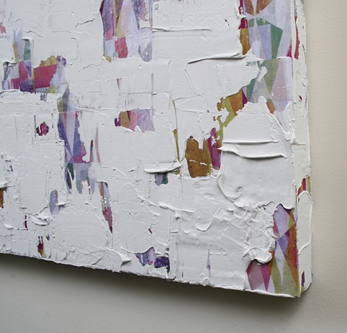 silicone, latex, joint compound, paper, on canvas 36 x 24 in.