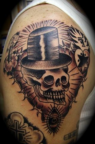 Russian Top Hat Skull
