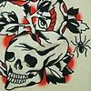 Skull, Snake, Spider w/Rose