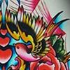 Skull, Birds, Roses