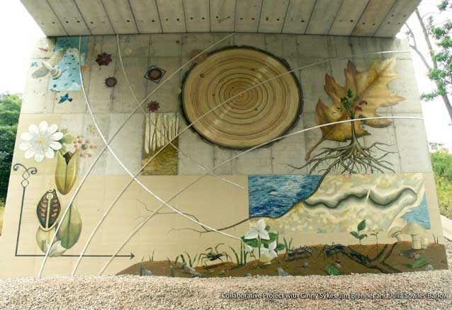 Mural, Augustina Droze, St. Sheridan Highland Park Illinois