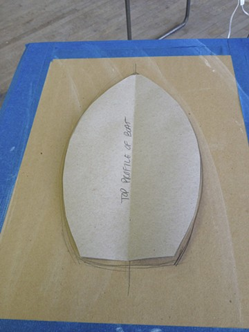 Making a template for the boat in paper, getting ready to build
