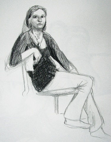 drawing of Kylee Barton by Chris Mona