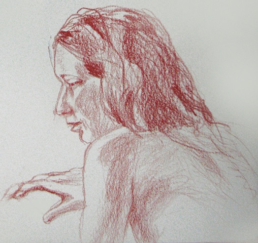 drawing of MaryAnne Tom by Chris Mona