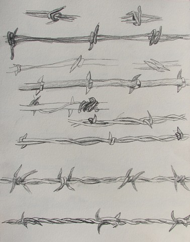 Barbed Wire Study 1