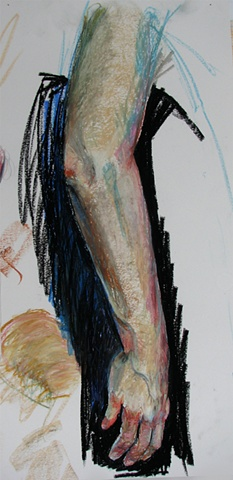 drawing of female arm by Chris Mona