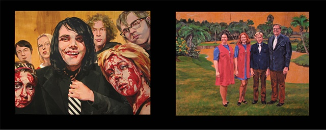 painting on two panels of My Chemical Romance and the Christian singing group The Powells in Cypress Garden by Chris Mona