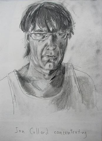 drawing of Jon Collard by Chris Mona