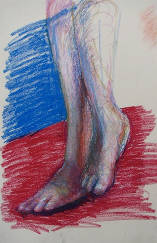 drawing of female legs by Chris Mona