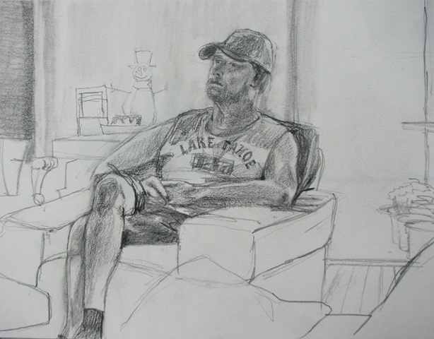 drawing of Steve Nordwick by Chris Mona