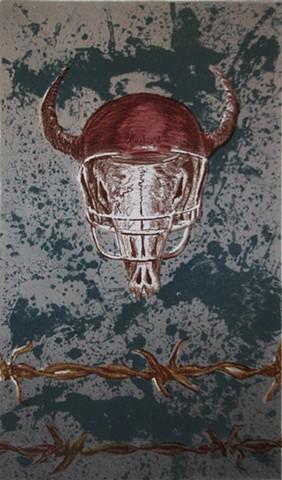 bison skull Husker Football