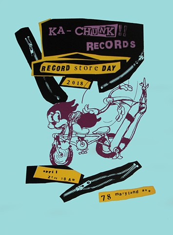 Ka Chunk!! Records Record Store Day Poster 2018: Bimbo