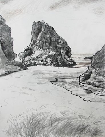 drawing of Coastal California by Chris Mona