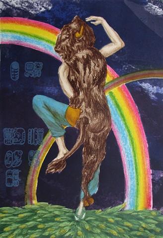 Mayan midwife goddess rainbow