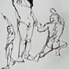 Standing Male Nude Studies, from Sketchbook No. 20