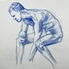 Seated Male Nude, from Sketchbook No. 20
