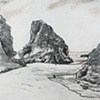 Pacific Coast North of Santa Cruz, from Sketchbook No. 20