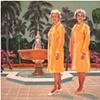 Ella and Ada Kimmel at the Fountain