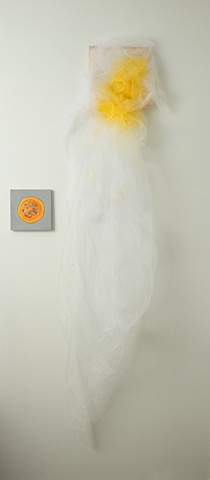 Veiled and Round (half a squash) installation