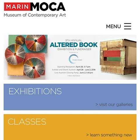 Found my book shrine on the website of Marin MoCa!