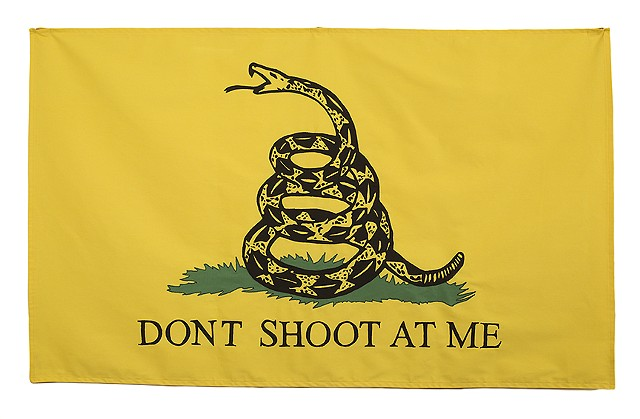 Gadsden Flag Don't Tread on Me Don't Shoot at Me Gun Violence Fiber Art