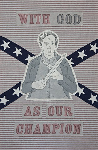 Civil War embroidery art