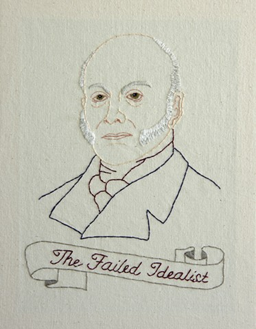 John Quincy Adams embroidery fiber art US Presidents american history
