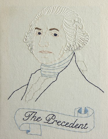 embroidery fiber art US Presidents american history George Washington
