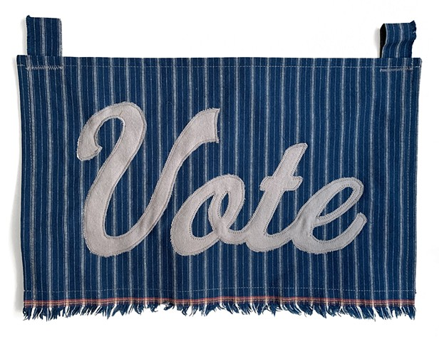 activist art fiber art fiber activist art craftivism 2020 election vote