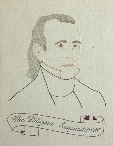 James K Polk embroidery fiber art US Presidents american history