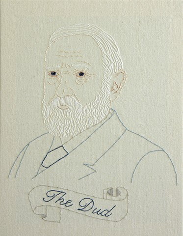 Benjamin Harrison embroidery fiber art US Presidents american history