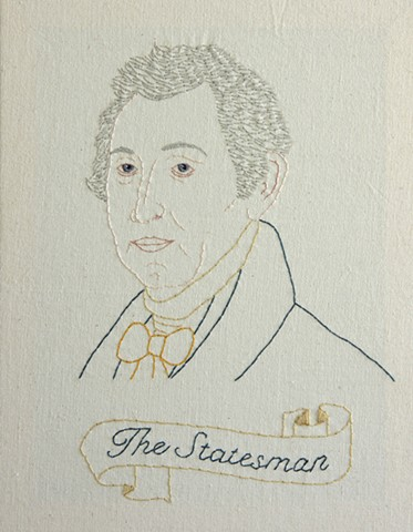 James Monroe embroidery fiber art US Presidents american history