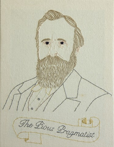 Rutherford B Hayes embroidery fiber art US Presidents american history