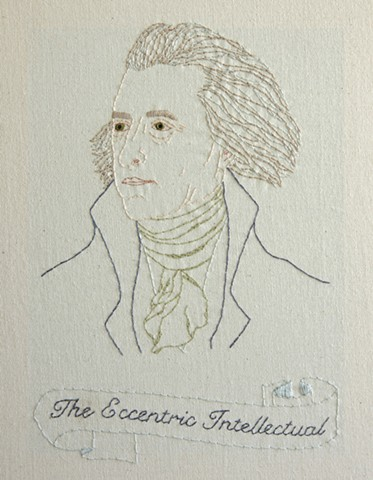 Thomas Jefferson embroidery fiber art US Presidents american history