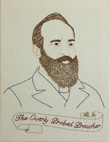 James Garfield embroidery fiber art US Presidents american history