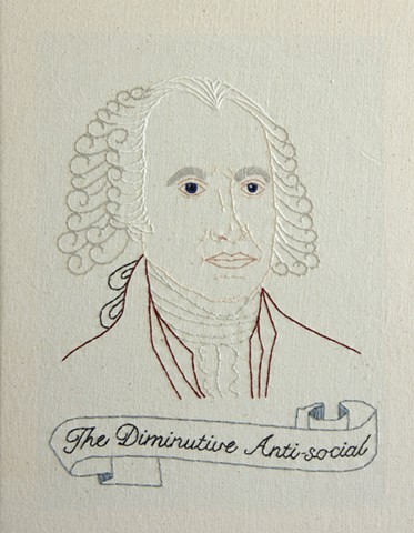 James Madison embroidery fiber art US Presidents american history