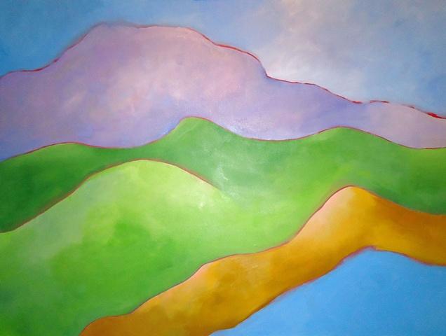 original acrylic figurative landscape painting