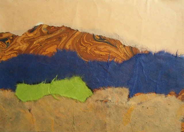 abstract landscape collage