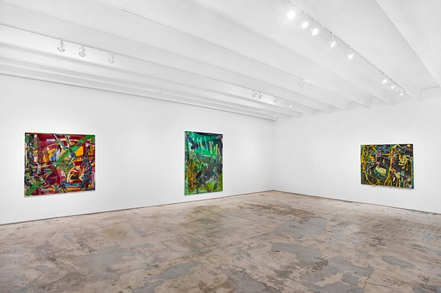 Installation of Paintings Fred Snitzer 2018